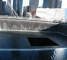 Pool and Fountain at 9/11 Memorial, New York by lenspiro
