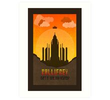 Gallifrey Minimalist art travel Poster Dr Who Art Print