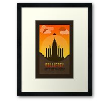 Gallifrey Minimalist art travel Poster Dr Who Framed Print