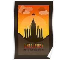 Gallifrey Minimalist art travel Poster Dr Who Poster