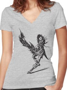Caius Ballad - FFXIII-2 Women's Fitted V-Neck T-Shirt