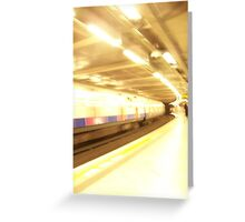 Speed Train Greeting Card