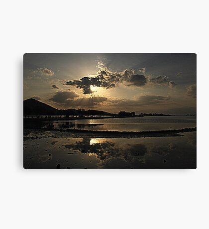 Elounda Salt lakes  Canvas Print