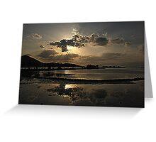 Elounda Salt lakes  Greeting Card
