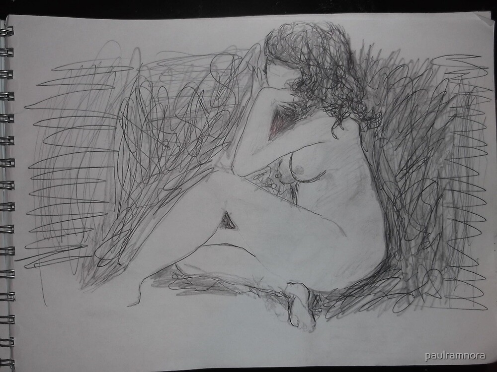 Life drawing(3 of 6) -(080212)- black biro pen/digital photo by paulramnora