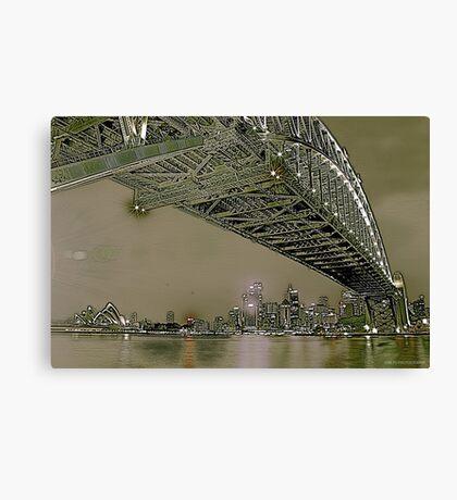 Sydney Harbour Bridge and Opera House Canvas Print