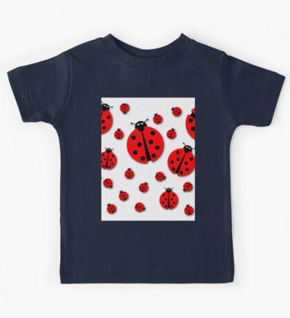 Many Ladybugs Shadows Kids Tee