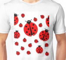 Many Ladybugs Shadows Unisex T-Shirt