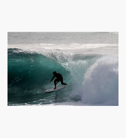 Surfer getting Barrelled at Dee Why Point 2 Photographic Print