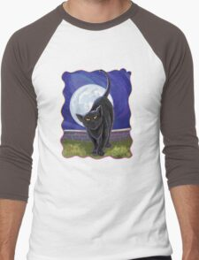Animal Parade Black Cat Men's Baseball ¾ T-Shirt