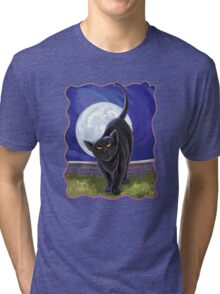 Animal Parade Black Cat Tri-blend T-Shirt
