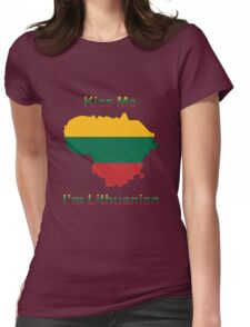 Kiss Me I'm Lithuanian Womens Fitted T-Shirt