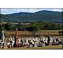 A Bush Cemetery Photographic Print