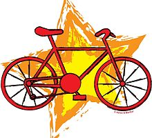 Red Bike Star by BartholGraphics