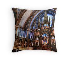 Notre-Dame Basilica of Montreal Throw Pillow