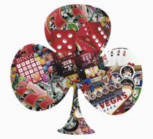 Club - Las Vegas Playing Card Shape  One Piece - Short Sleeve