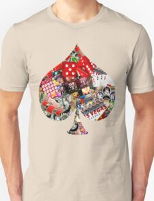 Spade Playing Card Shape - Las Vegas Icons   T-Shirt