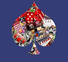 Spade Playing Card Shape - Las Vegas Icons   Unisex T-Shirt