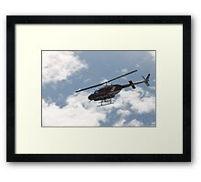 channel 7 helicopter Framed Print