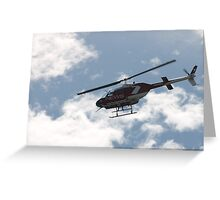 channel 7 helicopter Greeting Card