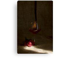 Rose & rosé passion Canvas Print