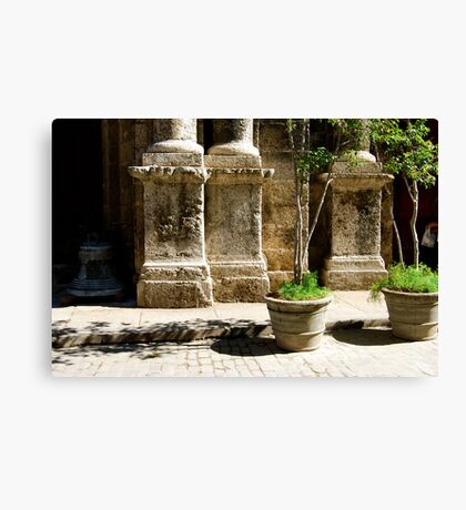 Old Havana Streetscape Canvas Print