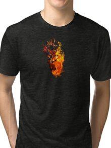 I Will Burn You - Text Edition Tri-blend T-Shirt