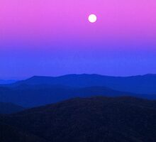 MOONRISE,CLINGMANS DOME by Chuck Wickham