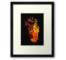 I Will Burn You - Text Edition Framed Print