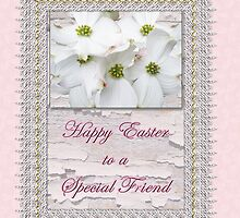 Special Friend Easter Card - Flowering Dogwood by MotherNature