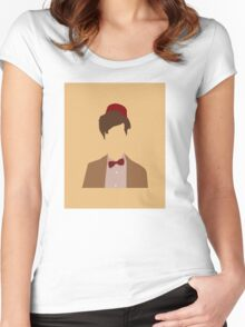 11th Doctor minimalist art Matt Smith Women's Fitted Scoop T-Shirt