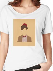 11th Doctor minimalist art Matt Smith Women's Relaxed Fit T-Shirt
