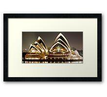Sydney Opera House by night Framed Print