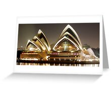 Sydney Opera House by night Greeting Card