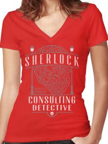 SHERLOCK Women's Fitted V-Neck T-Shirt