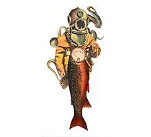 Diver Salmon Photographic Print