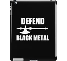 Defend Black Metal iPad Case/Skin