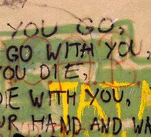 Mostar Graffiti - Mostar Bosnia by bengranlund