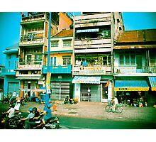 Vietnam Scooters Photographic Print