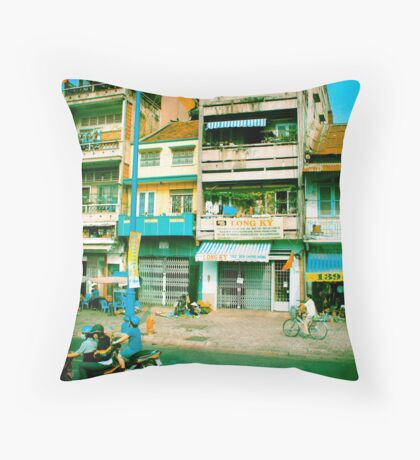Vietnam Scooters Throw Pillow