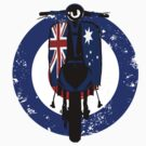 Retro Scooter with Aussie flag decals by Auslandesign