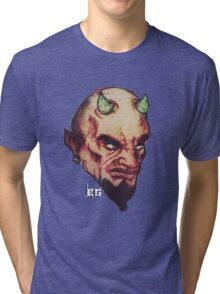 Devil Retro Tri-blend T-Shirt