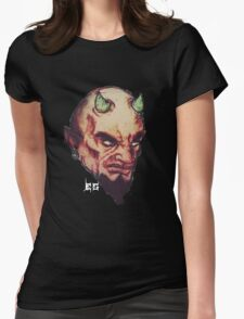 Devil Retro Womens Fitted T-Shirt