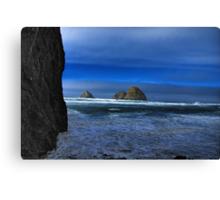 Ocean Blue - The Darkside of the Beach Canvas Print