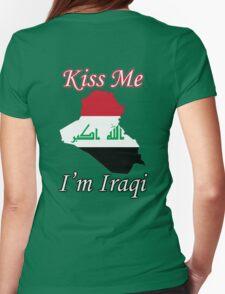Kiss Me I'm Iraqi Womens Fitted T-Shirt