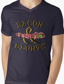 Bacon & Blunts  Mens V-Neck T-Shirt