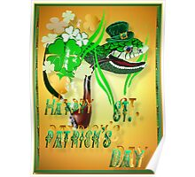 Irish Snake and Well Wishes Poster