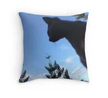MoonCat Throw Pillow