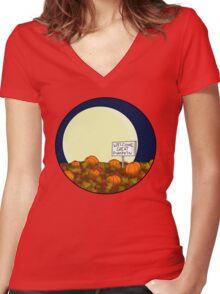 Welcome Great Pumpkin! Women's Fitted V-Neck T-Shirt