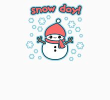 Cute Snow Day Snowman Womens Fitted T-Shirt